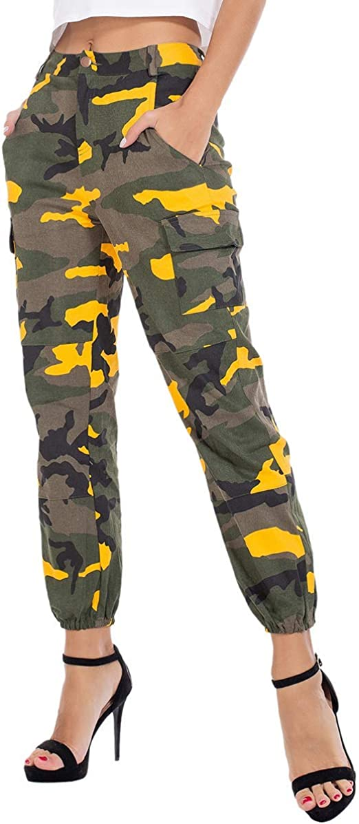 New Solid Women/'s Military Hiking Cotton Twill Camo Utility Cargo Pants