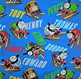 Thomas The Tank Engine and Friends All Aboard (Flat Top Sheet Only) Size Toddler Boys Girls Kids Bedding