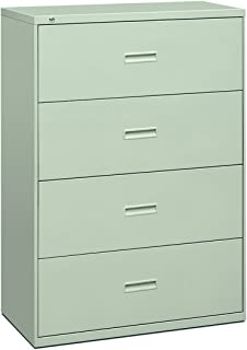 product image for HON Filing Cabinet - 400 Series Four-Drawer Lateral File Cabinet, 36w x 19-1/4d x 53-1/4h, Light Gray (434LQ)