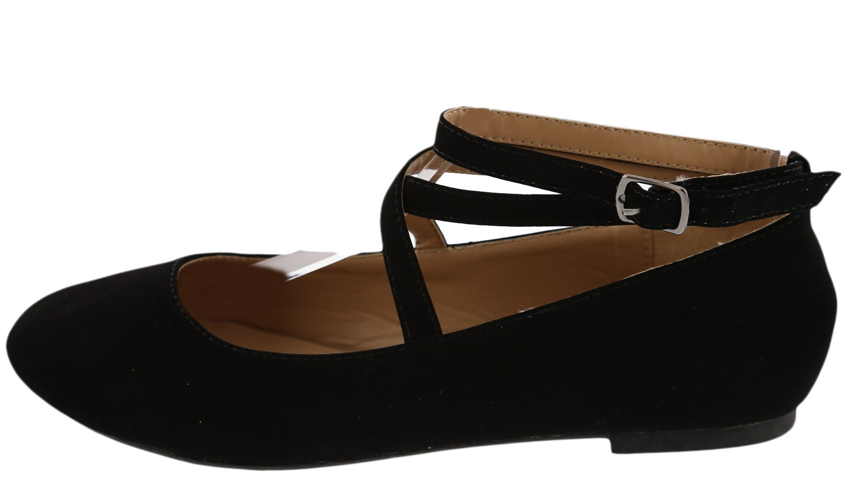 Top Moda Women's Brea-3 Strappy Ballet Flat (8 B(M) US, Black) by Top Moda (Image #2)