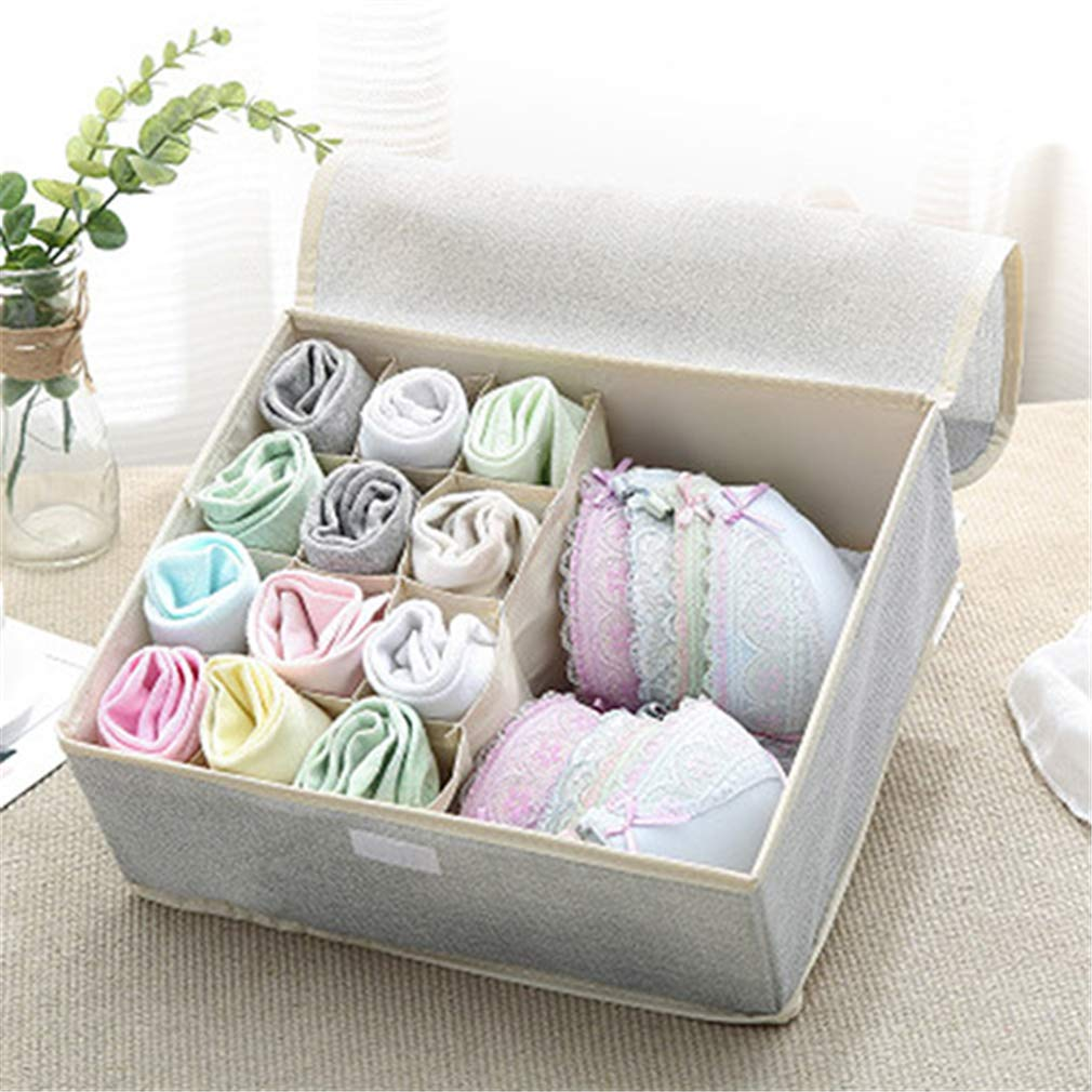VADOLY Fashion Folding Bra Storage Closet Drawer Organizer Foldable Divider Box Socks Necktie Underwear Towel Container