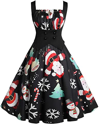 Women New Ladies 1940s Rockabilly Style Grace Sleeveless Mini Skater Dress TOP