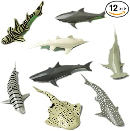 1-Pack of 12 12 Count Shark Toy Animals