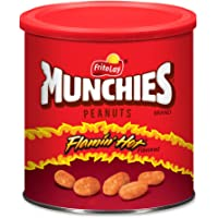 Munchies Flamin' Hot Flavored Peanuts, 16 Ounce (4 Canisters)