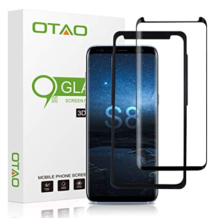 OTAO Galaxy S8 Tempered Glass Screen Protector [Update Version], Easy  Installation [Case-friendly] Samsung S8 Tempered Glass Screen Protector  with