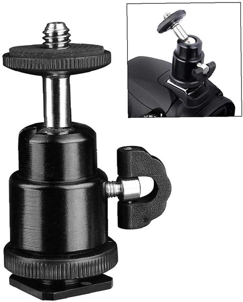 Tr/épied Mini Rotule Tr/épied T/ête M/étal Rotule 360 ??degr/és avec Tr/épied 1//4 Vis pour Cam/éra