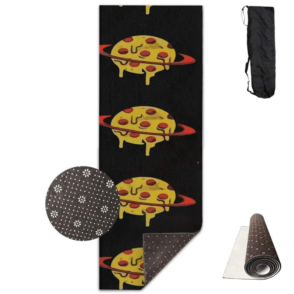 Yellow Pizza Planet Yoga Mat, Premium Yoga Mat, NonSlip Backing  Lightweight and Durable Yoga Mat for Exercise, Yoga, and Pilates 72x24 Inch