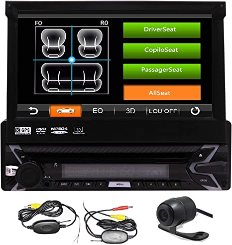 1 DIN Bluetooth 7/'/'Car Radio Stereo USB//SD//AUX//EQ//FM//TFT Touch Screen Head Unit