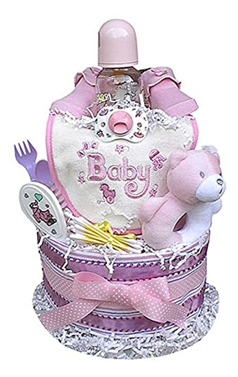 Amazon.com: Tarta de pañales para bebé idea de regalo ...