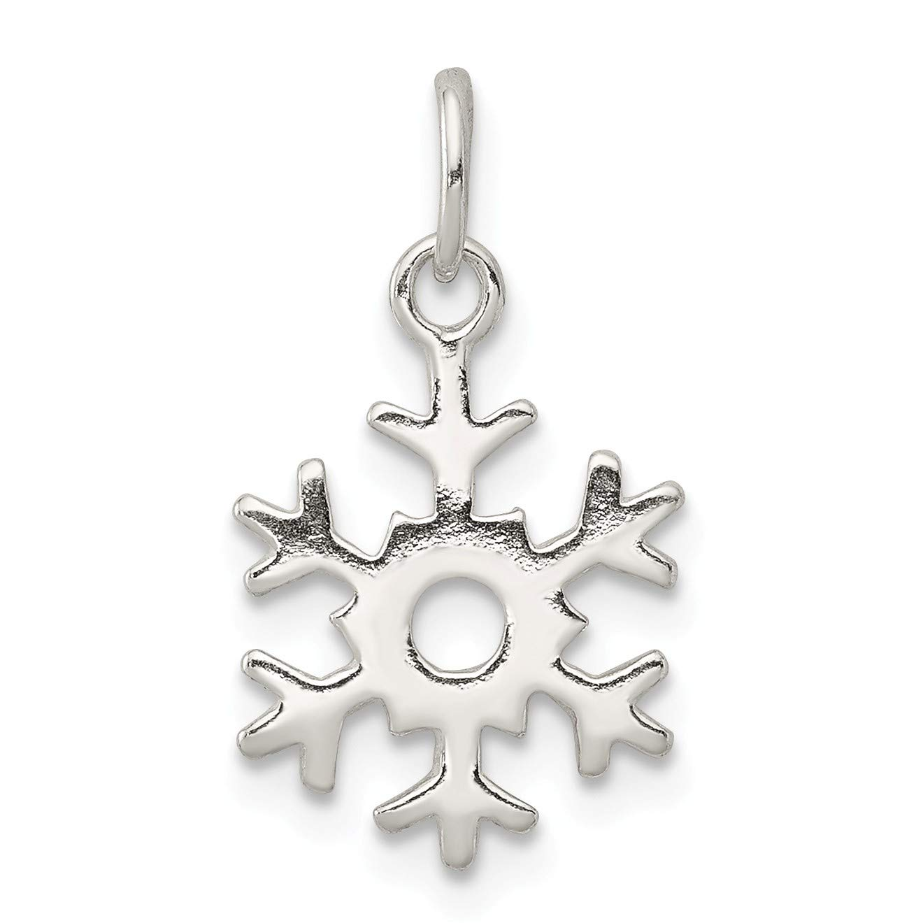 Bonyak Jewelry Sterling Silver Polished Snowflake Charm