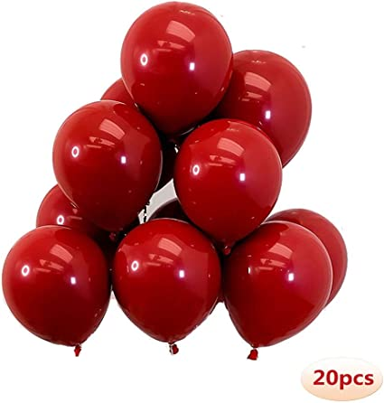 "10 pack Pearl Ruby Red 11/"" Balloons Professional QUALATEX Balloons"