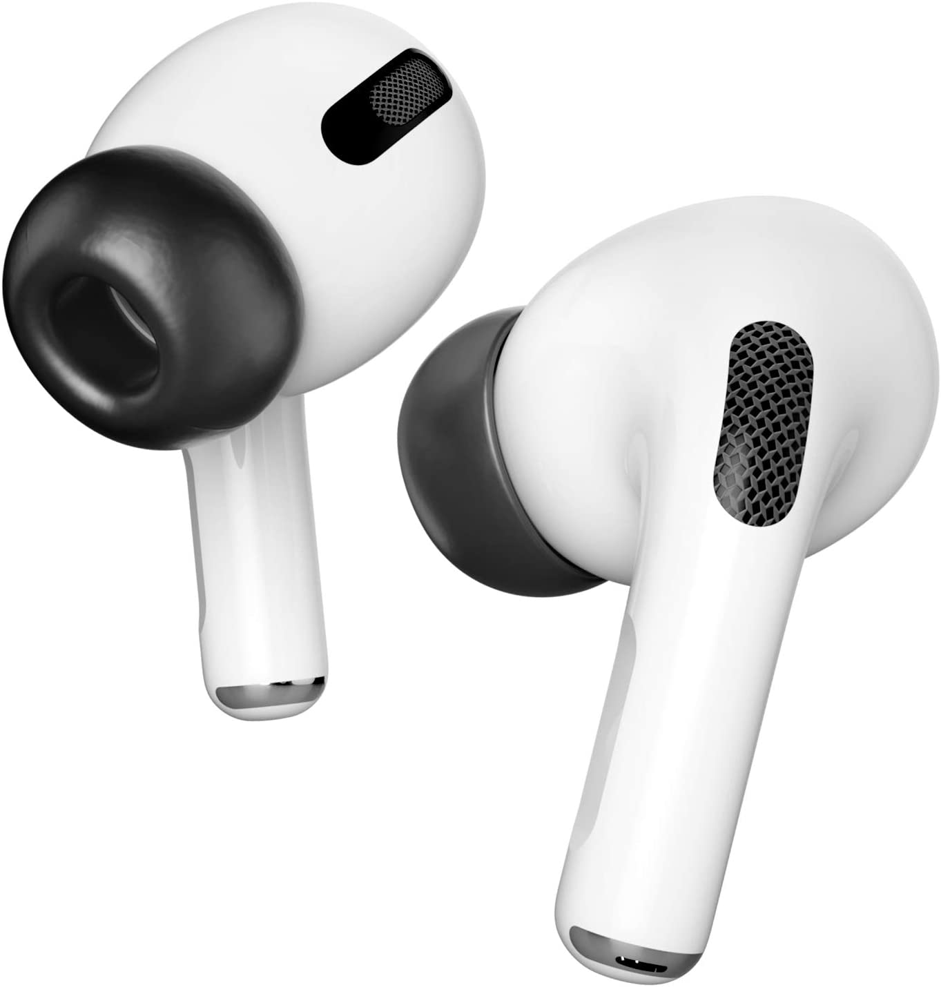 PZOZ 3 Pairs Replacement Ear Tips Compatible with Apple AirPods Pro, Memory Foam Reducing Noise in-Ear Eartips Accessories (Fit in The Charging Case) (Large, Black)