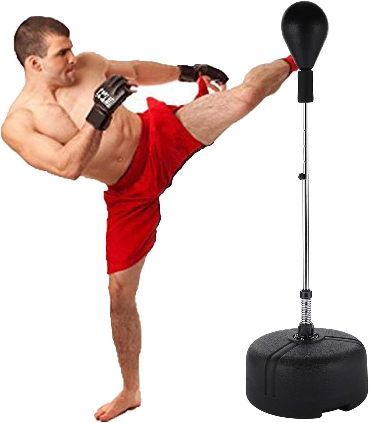 Bestlucky Standing Punching Bag, Adjustable Height 53.5-60.6, Free Standing Punching Bag Stress Release Fitness Trainer US Stock