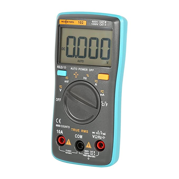 Digital Multimeter Electronic Measuring Instrument AC/DC Ammeter Voltmeter Portable Meter(With temperature measurement function RM102) - - Amazon.com