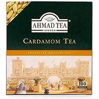 Ahmad Tea Cardamom Black Teabags, 100 Count (592)