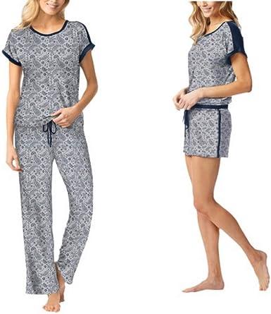 Lucky Brand 3 Piece Lounge Pajama Set Gray Bandana Small Amazon Ca Clothing Accessories