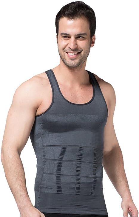 ZeroBodys - SS-M01 - Camiseta compresora para hombre, estilizante, modelante, faja adelgazante, color gris, SS-M01, gris, XX-Large: Amazon.es: Deportes y aire libre