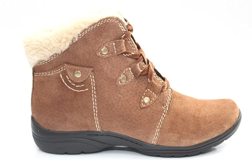 9881ccc807612 Earth Spirit Womens Ladies Comfort Fur Trim Tan Suede Ankle Boots Size UK  3-8: Amazon.co.uk: Shoes & Bags