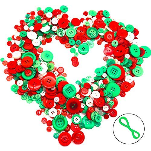 800 PCS Mixed Colors Size Assorted Bulk Buttons for Art & Crafts Projects DIY Decoration for -