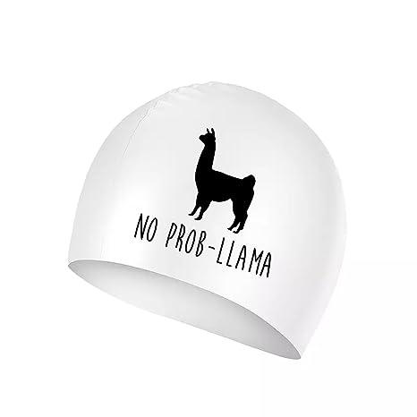 Amazon.com   XREE No Prob Llama Logo Sport Swim Cap Silicone ... c31326b3cc9