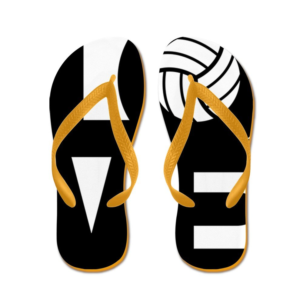 CafePress Love Volleyball - Flip Flops, Funny Thong Sandals, Beach Sandals by CafePress (Image #1)