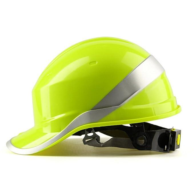 KUNSE Diamond V Cascos Seguridad Trabajo Punto 8 Construcción Ventilada Trinquete Cascos Rojo: Amazon.es: Hogar