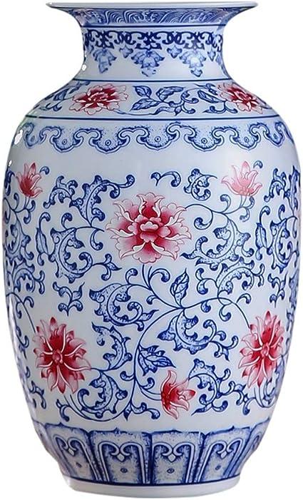 Yongyongchong Vaso In Ceramica Classica Fiori Creativi Di Alta Qualita Per La Decorazione Di Casa Casa Casa Soggiorno Camera Da Letto Ufficio Tavolo Blu 12 X 23 Cm Amazon It Casa E Cucina