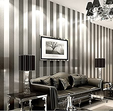 Simple And Modern Non Woven Wallpaper Bedroom Living Room Sofa Tv