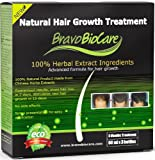 Bravo Biocare Natural Hair Growth Treatment. Mens Presentation. Advanced Formula for Hair Regrowth. 3 Spray Bottles of 60ml Each. (Stops Hair Loss, Stimulates New Hair Growth. Baldness Treatment)