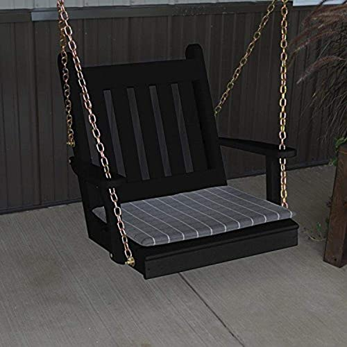 A L Furniture Yellow Pine Traditional English Chair Swing, 2 , Coffee