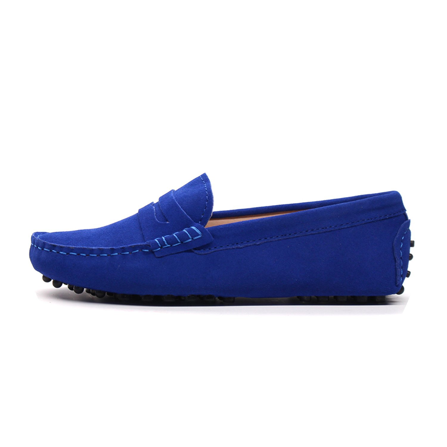 2018 New Women Flats Genuine Leather Driving Shoes Summer Women Casual Shoes B07DV56LSV 7 B(M) US|Blue