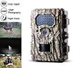 Kinor Trail Camera,12MP 1080P 2.4″ LCD Game Hunting Scouting Camera with 940nm IR LEDs Night Vision up to 82ft/25m IP67 Waterproof for Wildlife Hunting and Farm Security For Sale