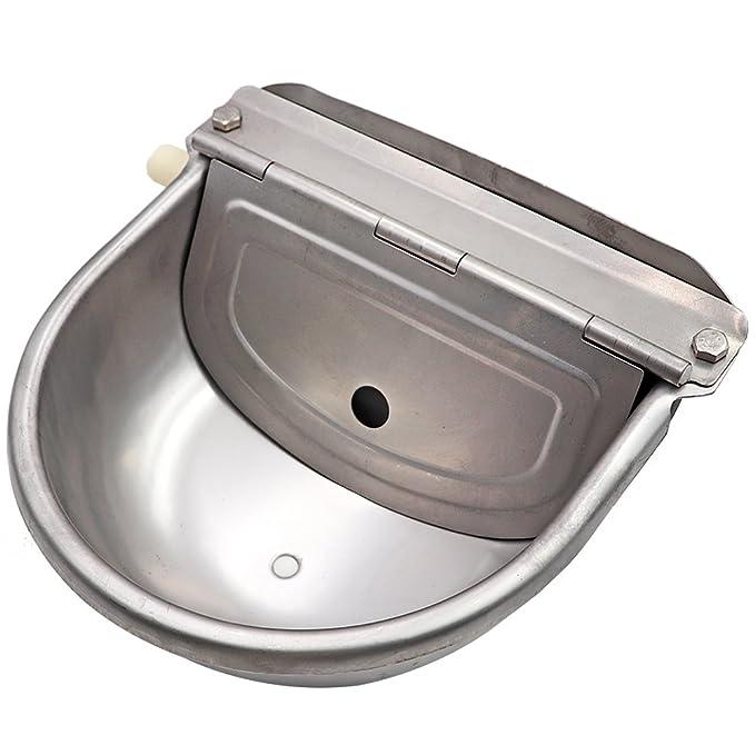 Farm & Ranch Cuenco de agua de acero inoxidable con escurridor para caballo perro gato cabra oveja cerdo flotador válvula: Amazon.es: Productos para ...