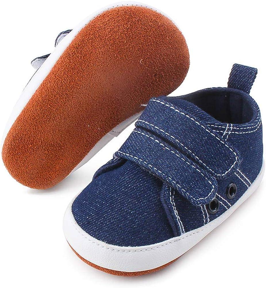 DELEBAO Weiche Baby Kleinkind Lederschuhe Babyschuhe Krabbelschuhe Leder Baby Schuhe Lauflernschuhe Lederpuschen Mehrfarbig