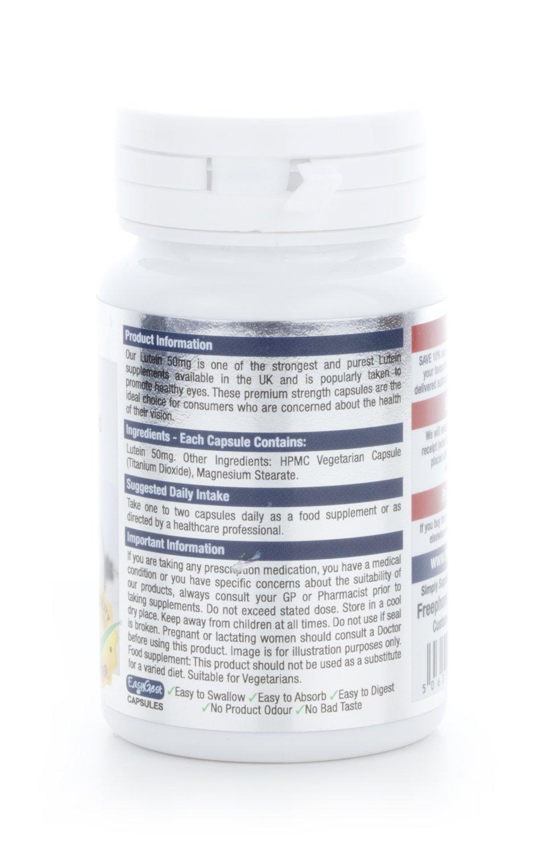 Luteína 50 mg - 60 cápsulas - Hasta 2 meses de suministro - Contra el daño macular degenerativo - Para la salud de los ojos - SimplySupplements: Amazon.es: ...