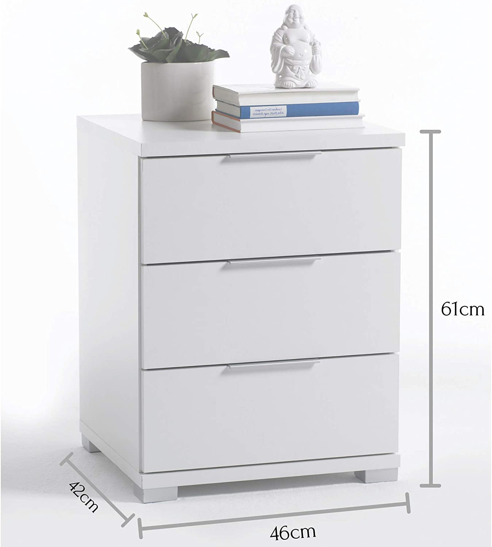 Bianco Legno 42 x 46 x 61 cm Stella Trading Universal Comodino