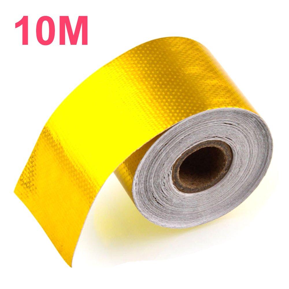5M X 5CM Orel/_carparts 5M X 5CM Gold Aluminiumfolie Hitzeschutzband Selbstklebend Auspuff Kr/ümmer Reflektierend Hitzeschutz Tape Band Rolle mit 6 Stk Kabelbinder