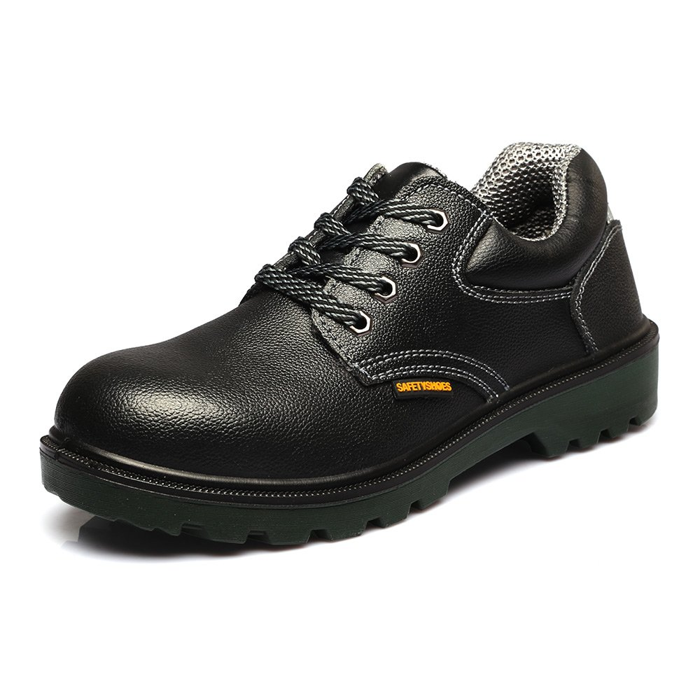 JACKBAGGIO Men's Leather Steel Toe Professional Work Shoe 8814 (8)