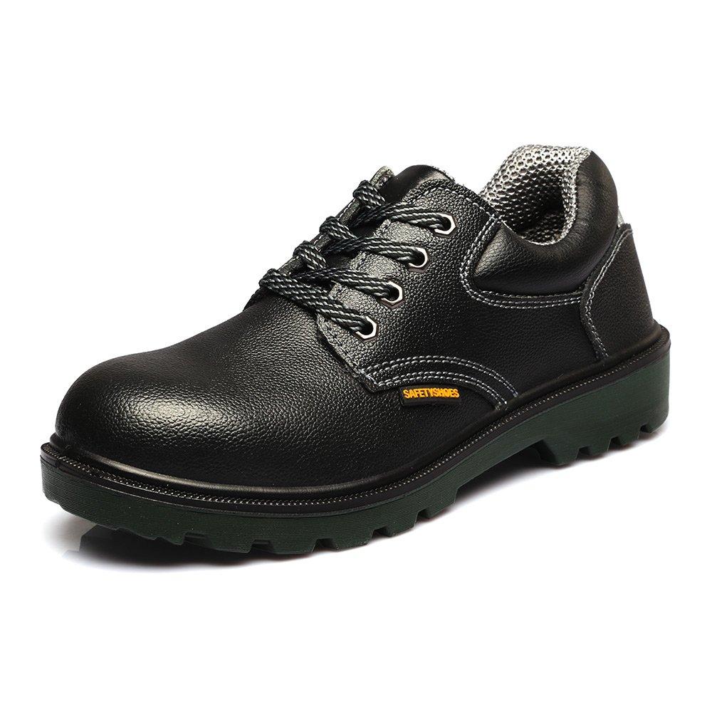 JACKBAGGIO Men's Leather Steel Toe Professional Work Shoe 8814 (8) by JACKBAGGIO