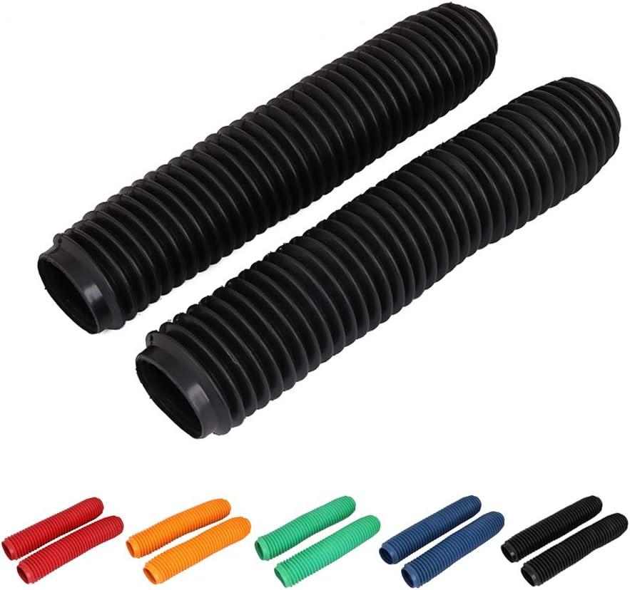 Carbon fiber Wrap Shock Absorber Guard Gaiters Gators Boots Adjustable Universal For Dirt Bike Motorcycle Front Shock Fork Guard 6.7 inch