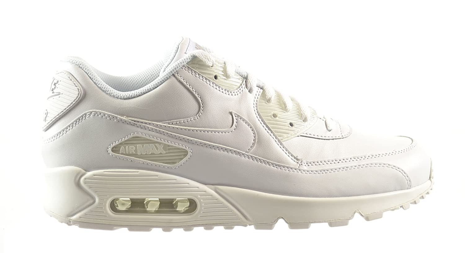 half off 9a014 18703 Amazon.com   Nike Air Max 90 Leather Men s Shoes White White 302519-113    Fashion Sneakers