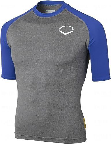 EvoShield Grey//Black Performance 3//4 Sleeve Shirt Youth Baseball New
