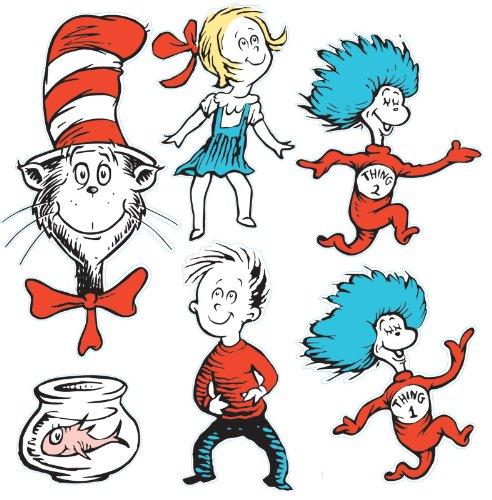 Dr Seuss Decorations (Eureka Large Dr. Seuss Characters Deco Kit (840226))