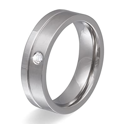 eleganter Edelstahl Ring Partnerring Freundschaftsring Zirkonia Damen Herren