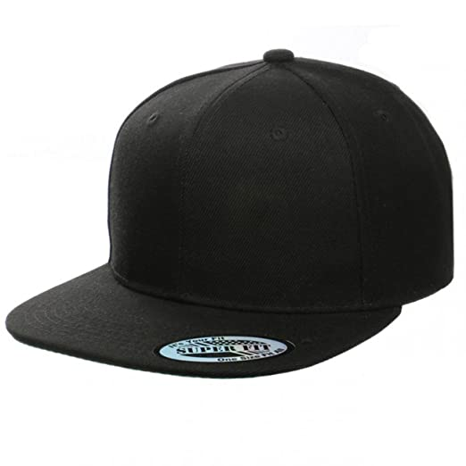 Blank Adjustable Flat Bill Plain Snapback Hats Caps (All Colors) (One Size, Colors