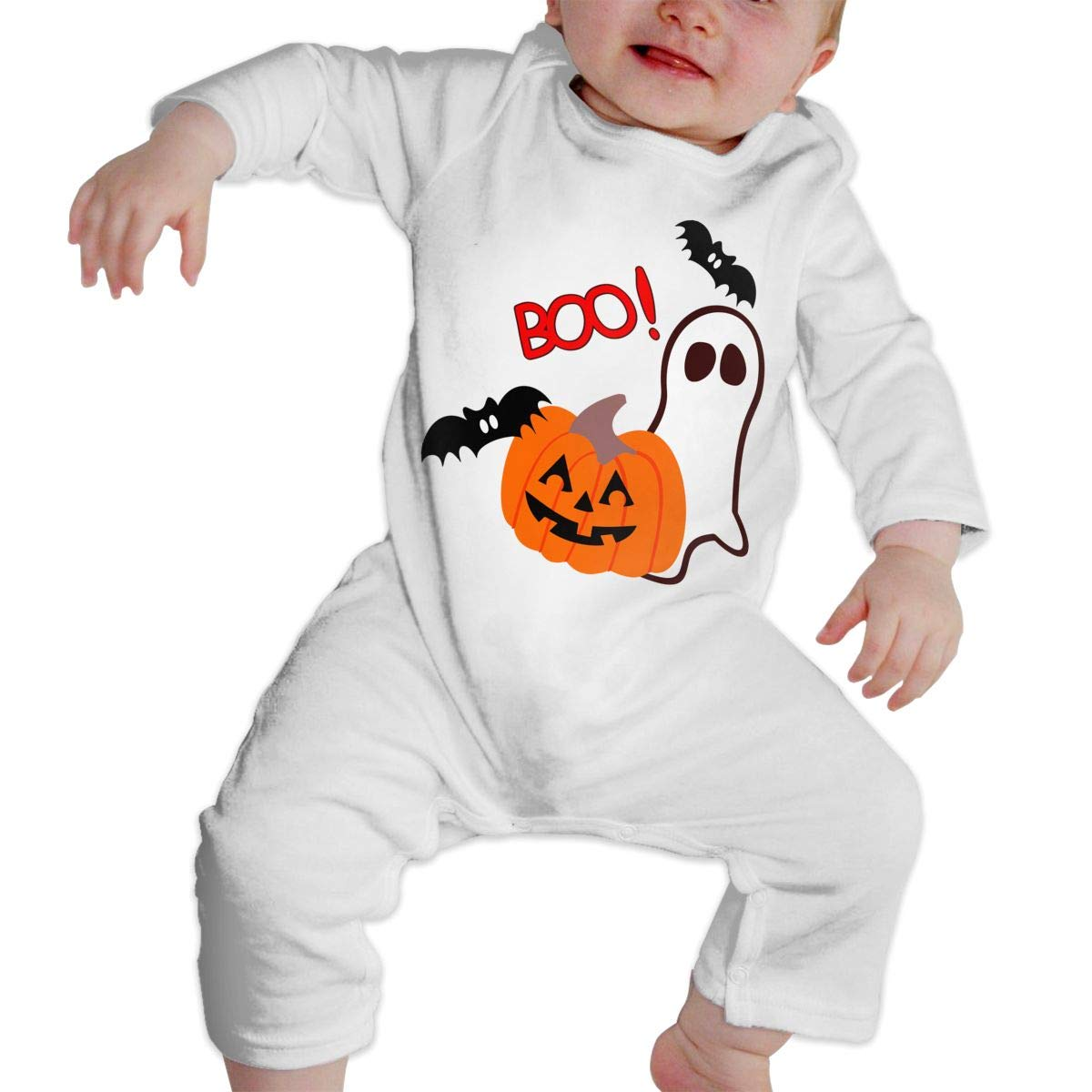 Mri-le1 Baby Girl Jumpsuit Boo Halloween Toddler Jumpsuit