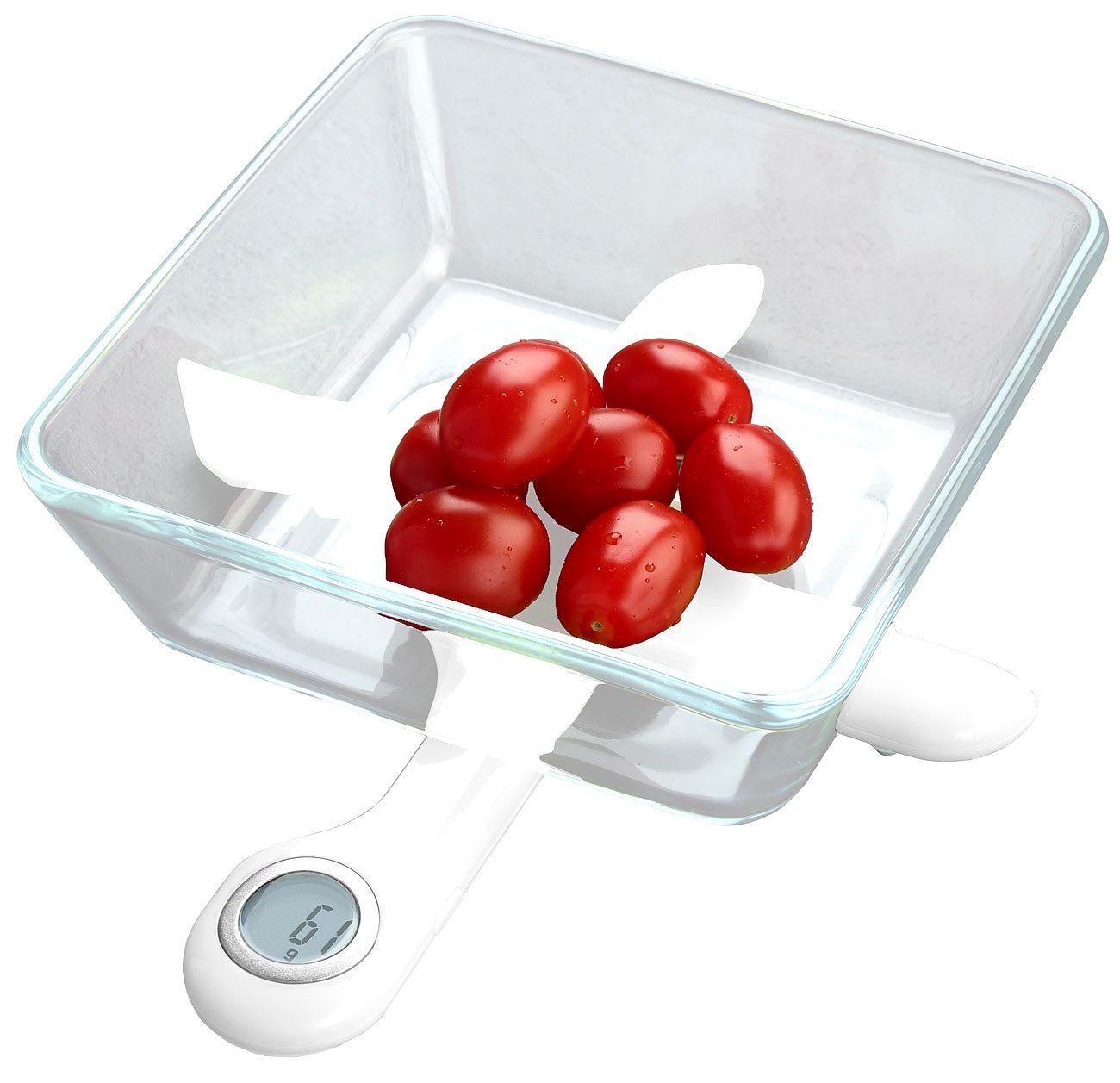Rosenstein & Söhne - Báscula portátil: compacto digital Báscula de cocina en diseño plegable, hasta 5 kg, función de tara (Báscula de cocina plegable): ...