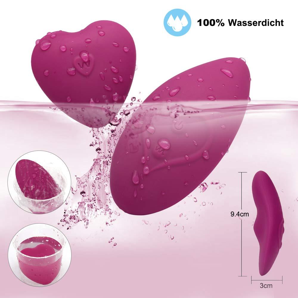 Auflegevibrator für sie Klitoris mit Fernbedienung, Tragbarer Klitorisstimulator Vibrator Invisible Klitoris Massagegerät für Frauen, Paare, 100% Wasserdichter, Leise (Violett)