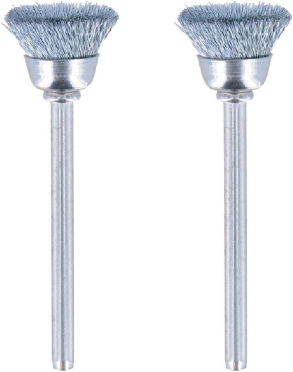 Dremel 443-02 Carbon Steel Brushes 2 Pack 1//2
