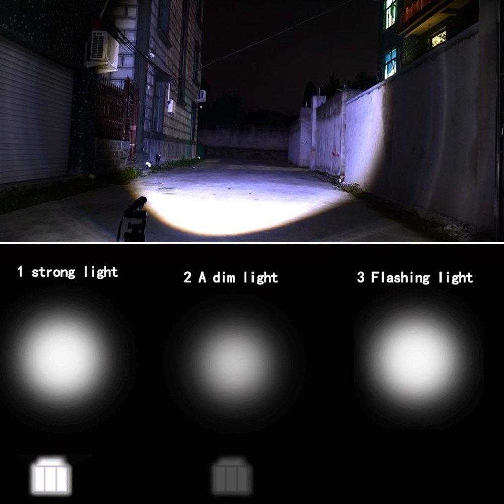 Mini linterna LED Brillo fuerte 3 Modos de luz IPX-5 Vida cotidiana Antorcha Handheld impermeable de la linterna para la b/úsqueda al aire libre B/úsqueda Patrolling Noche que monta el acampar que camina Sondando la UE negra Enchufe